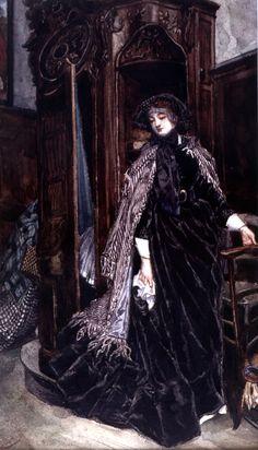 The Confessional - James Jacques Joseph Tissot (1836-1902).