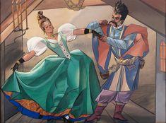 """Polonez"" by Zofia Stryjeńska gouache/paper, private collection Folk, Auction, Princess Zelda, Polish, Illustration, Modernism, Gouache, Fictional Characters, Paper"