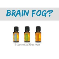 Brain fog? Here's a great little blend to try. Peppermint is a mood elevator and gives an immediate perk. It's also good for focus. Frankincense is good for anything neurological. And there's awesome research in regard to Rosemary improving memory.