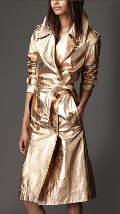 Image result for golden-leather-trench-coat