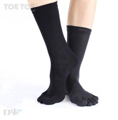 The black mid calf wool style. Liner Socks, Barefoot, Wool, Silk, How To Wear, Outdoor, Black, Fashion, Outdoors