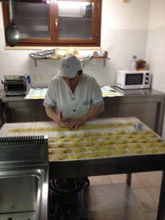 Voilà, il tortello Maremmano è pronto per essere cucinato presso Agriturismo Poggio Corbello