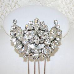 vintage wedding combs | Rhinestone Wedding Hair Comb Vintage Jewelry Bridal by OhFaro, $60.00