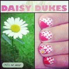 Daisy Duke Nails! #nails #naildesign #daisydukes