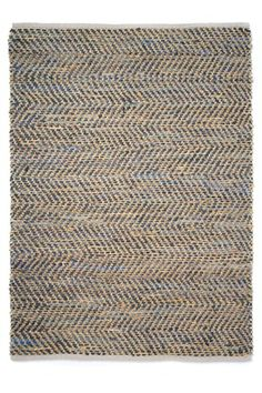 jute & leather rug : french connection homeware collection