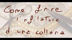 In questo tutorial spiego come si chiude una infilatura di perle con il metodo classico con canottiglia, metodo da gioielliere. Diy Jewelry, Jewelery, Handmade Jewelry, Jewelry Making, Photo Pattern, Wire Crochet, Crochet Collar, Bijoux Diy, Beading Tutorials