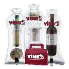 VinniBag is a versatile travel accessory for wine, liquids and fragile items. Contents are surrounded in an air cushion which provides superior protection against impact.
