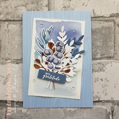 Stampin' Up! Demonstrator Kim Price : Watercolouring with Forever Fern Stampin Up Christmas, Christmas Cards, Stampin Up Weihnachten, Forever, Fall Cards, Sympathy Cards, Paper Cards, Stamping Up, Flower Cards