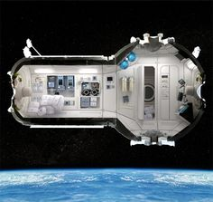 Hotel in Space  Russian company Orbital Technologies is planning to open the world's first space hotel in 2016.