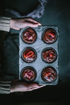 Blood Orange Chocolate Cupcakes http://adventuresincooking.com/2017/02/chocolate-blood-orange-cupcakes.html