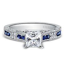 Kirk Kara 18K White Gold Charlotte Sapphire and Diamond Ring Mounting  2FSSW3943
