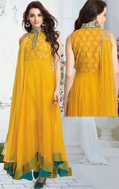 Plushy Yellow Color Party Wear Salwar Kameez