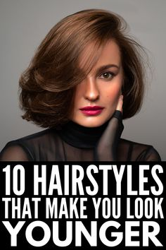 Hair Tutorials For Medium Hair, Haircuts For Medium Hair, Bob Hairstyles For Fine Hair, Hairstyles Over 50, Older Women Hairstyles, Medium Hair Styles, Curly Hair Styles, Medium Bob Hair, Updos For Medium Hair
