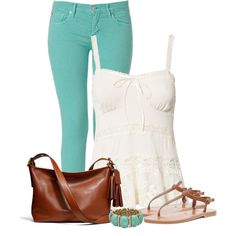"""Turquoise and Brown"" by denise-schmeltzer on Polyvore"