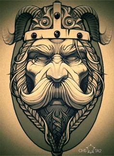 skull beard biker helmet new school tattoos - Pesquisa Google