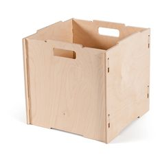 Stackable Unfinished Wooden Crate Storage, American Made - By Sprout >>> To view further for this item, visit the image link. (This is an affiliate link) Fabric Storage Boxes, Wood Storage Box, Fabric Boxes, Crate Storage, Storage Bins, Storage Containers, Record Storage, Storage Solutions, Storage Ideas