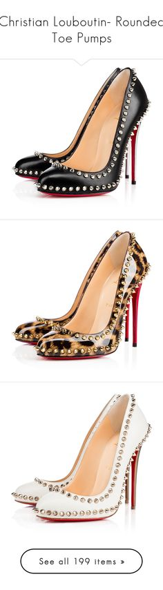 """""""Christian Louboutin- Rounded Toe Pumps"""" by sakuragirl ❤ liked on Polyvore featuring shoes, pumps, louboutin, christian louboutin, heels, black, summer shoes, high heel pumps, black pumps and black high heel pumps"""