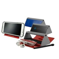 This Tech Box is a promotional tool that anyone can find a way to use! The 6 in 1 tech storage box and stand features exclusive color combos. The set includes a pen/stylus, stand, earbuds, a ruler and a cleaner cloth. Whether you're a cellphone retail store looking for a great incentive for new and potential customers or you just want to improve the sign-up rate at your booth for the next trade show, this is the item for you. Simply add your company's name, logo and adve...
