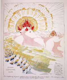 """In 1917, German architect Bruno Taut conceived an utopian city in the Alps and documented it through 30 illustrated plates in the book """"Alpine Architecture"""". The treatise developed the ambitious plans for a city to be constructed by the same inhabitants of the community. """"Alpine Architecture""""..."""