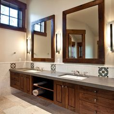 Frame Bathroom Mirrors And Paint To Match Cabinets