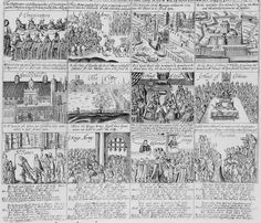 The English Civil War began on the 22 August 1642.  This image from an engraving called 'The Malignants trecherous and bloody plot against the Parliament and Citty of London', describes the plot, followed by verses addressed to the Malignants.