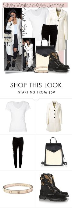 """""""Style Watch:Kylie Jenner"""" by nfabjoy ❤ liked on Polyvore featuring James Perse, Valentino, Joie, Loeffler Randall, Cartier, Balmain and KylieJenner"""