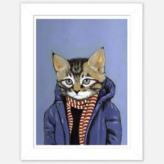 This is def something Dr Peppa would wear!!!!! LOL!!!  (39) Fab.com | Framed Cat Print Brewster