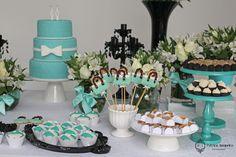 Decoração Festa de 60 Anos tema Tiffany by Patricia Junqueira.  www.patriciajunqueira.com.br