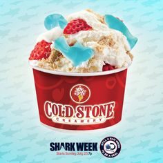 """Pin this Great White Bite™ Creation to your """"Fin-spiration"""" board for a chance to win the ultimate Shark Week Viewing party! Follow link for official rules."""