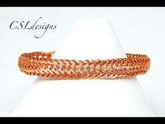 Alternating fishtail wirework bracelet - YouTube