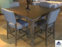 The Tanshire Counter Height Dining Room Table From Ashley Impressive Pub Height Dining Room Sets Design Ideas