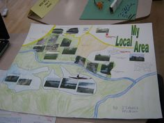 Cromwell Park Primary School - My Local Area Display Geography Activities, Geography Map, Teaching Geography, History Activities, Primary Teaching, Primary School, Primary Classroom, Class Displays, School Displays