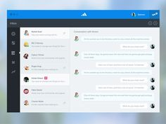 Mail Conversation UI PSD