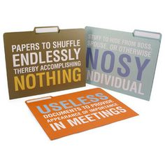 Folders with an attitude - love these