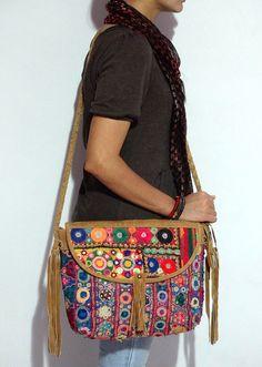high fashion woman's leather messanger bag gypsy banjara messanger bag vintage banjara cross body bag banjara shoulder bag on Etsy, $99.00