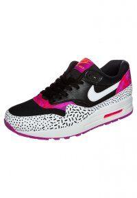 Nike Sportswear - AIR MAX 1 - Trainers - black/white/fireberry pink pow