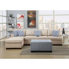 Found it at AllModern - Bobkona Cayden Reversible Sectional