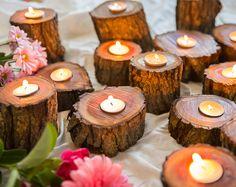 Aus Holz Teelichthalter, Kerzenständer, Hochzeit, Empfang, Home Decor