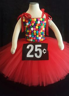 Gumball Machine tutu dress costume by Fancythatcreation on Etsy