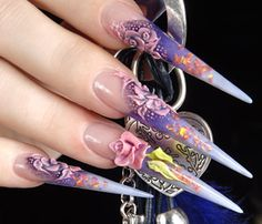 Exotic Acrylic Nail Designs Ideas: Pretty Purple Acrylic Crystal Nails ~ fixstik.com Nail Designs Inspiration