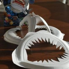 Paper Plate Shark Jaws {Easy Craft}