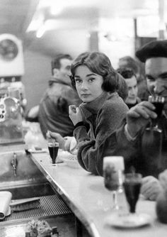 Audrey Hepburn photographed by Sam Shaw during the filming of Love in the Afternoon, 1956. Photograph: The Sam Shaw Family Archives/Sam Shaw Inc, shawfamilyarchives.com. Now on display at the National Portrait Gallery's newest exhibition, Audrey Hepburn: Portraits of an Icon.