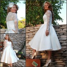 Find More Wedding Dresses Information about Plus Size Sheer V Neck Wedding Dresses Long Sleeves 2014 Tulle Stain Ball Gowns Lace Appliques Short Tea Length Bridal Dress,High Quality Wedding Dresses from Dreamyfashion on Aliexpress.com