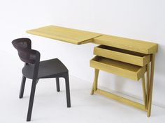 Pivot Desk and Vanity by Shay Alkalay for Arco