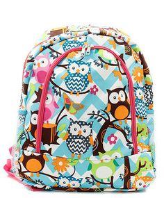 9eb87031cd Personalized Girls OWL Backpack CHEVRON by kozykidzboutique