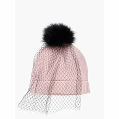 Cute Kate Spade Hat -- I think I could add the same veil to any hate and make myself. Cute concept.