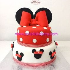 :O Tarta mickey minnie / Tarta minnie mouse Pasteles disney :)