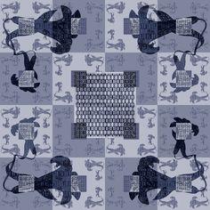 GLAGOLITIC LILIES: DUO, Nikola Eftimov design for VIDA