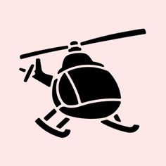 "HELICOPTER STENCIL TEMPLATES TEMPLATE STENCILS FLEXIBLE NEW 5"" x 7"" in Crafts, Art Supplies, Decorative & Tole Painting 