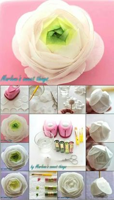 Wafer paper ranunculus tutorial